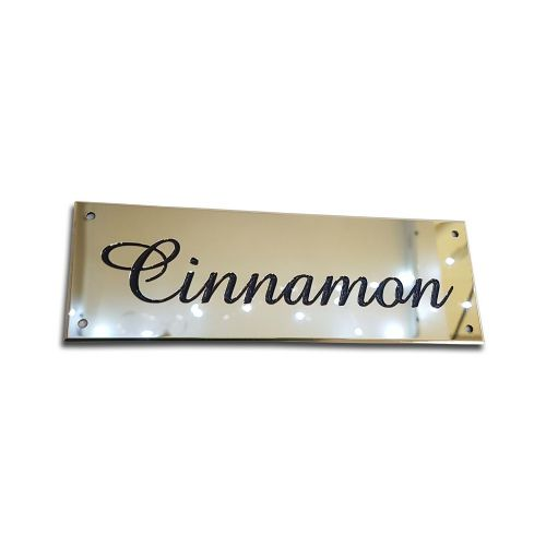 Mirror Polished Brass Stable Names Plates various sizes